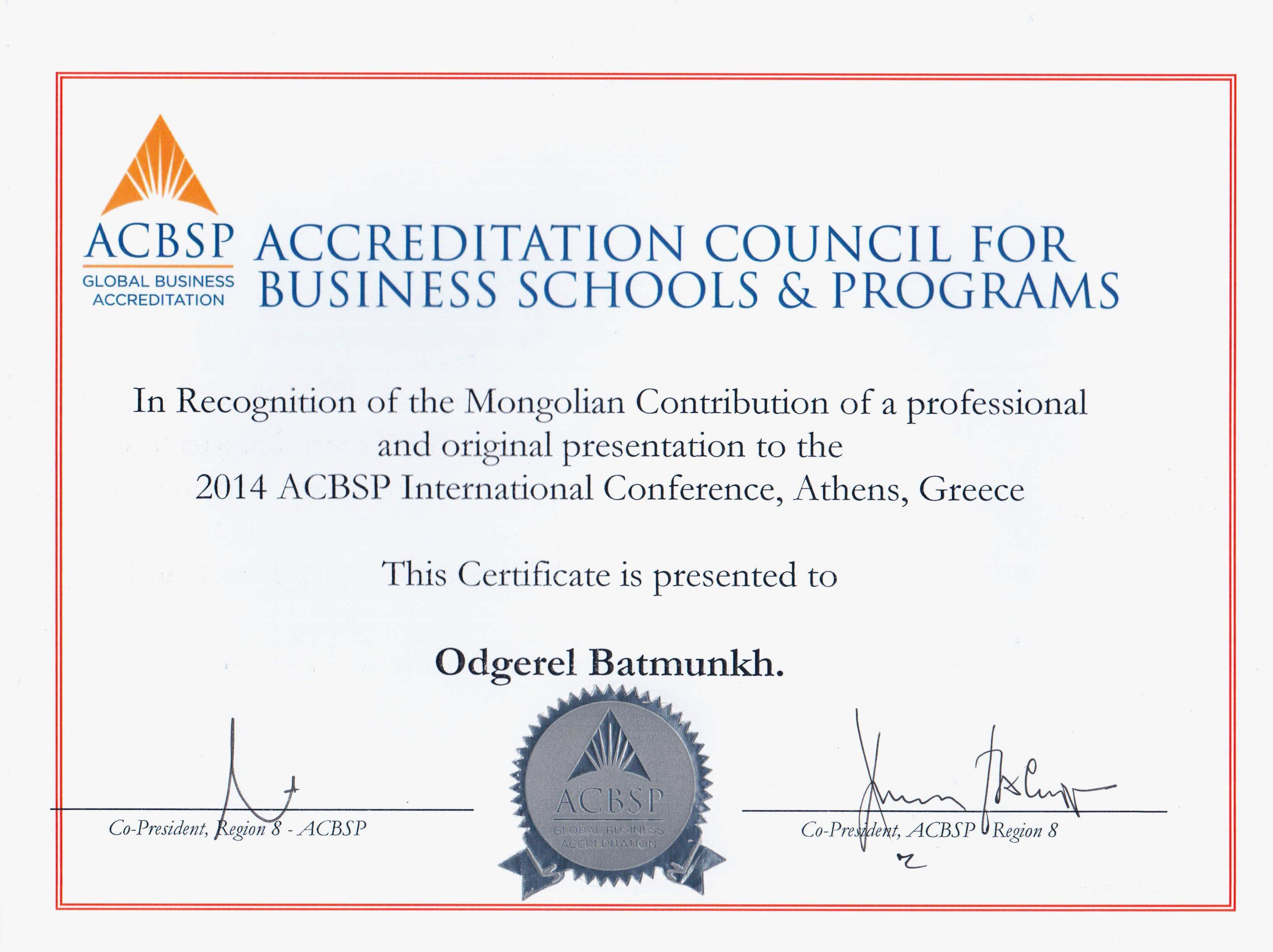 ACBSP-ын Олон Улсын Хурал Грекийн нийслэл Афин хотноо боллоо