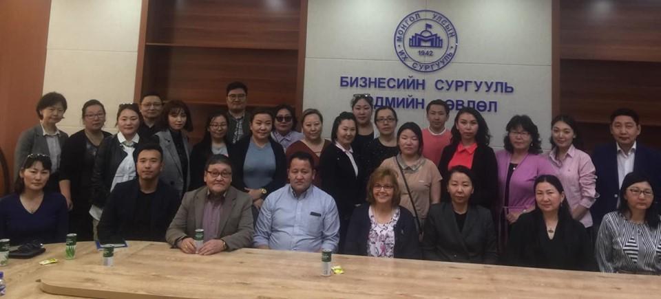 (Mongolia) Олон улсын магадлан итгэмжлэлийн ACBSP байгууллагын магадлан итгэмжлэлийн захирал Diana Hallerud уулзалт хийлээ
